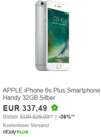 Apple iPhone 6s in der B-Ware Aktion