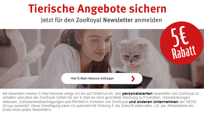 zooroyal nachlass fuer newsletter